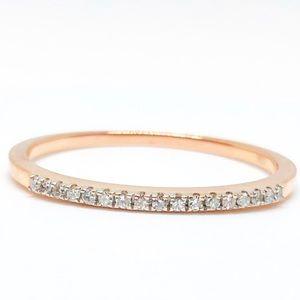 1/10 CTW 10k Rose Gold Diamond Band Ring